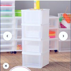 Wayfair Basics stackable storage drawers